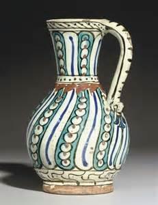 Ottoman Pottery An Iznik Pottery Jug Ottoman Turkey Circa 1600 Domestic Detail Ottomans