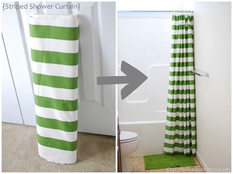 make a shower curtain 5 diy shower curtains anyone could make you put it up