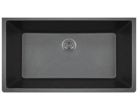 large single bowl sink 848 black large single bowl undermount trugranite kitchen sink