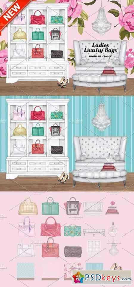 Luxury Closet Bags by Luxury Bags Walk In Closet 1325917 187 Free Photoshop Vector Stock Image Via