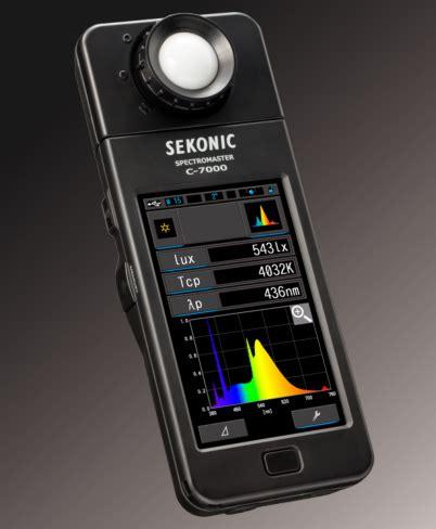 color temperature meter sekonic c 7000 light spectrum meter spectrophotometer