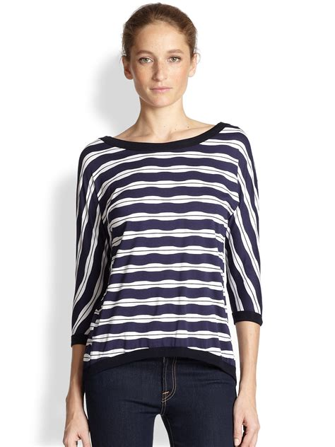 Bolly Top Navy 44 bailey 44 back striped top in blue navy lyst