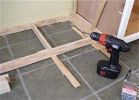 Ikea Toe Kicks Gap On Uneven Floor by Cut Toe Kick Cabinets Images