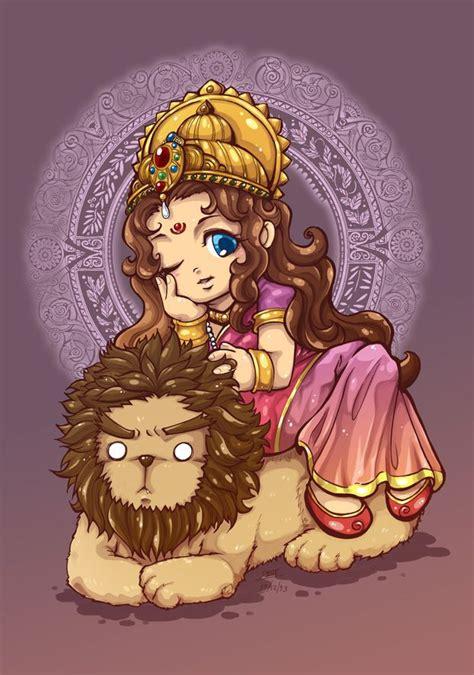 wallpaper cartoon durga durga chibi version by in sine deviantart com on