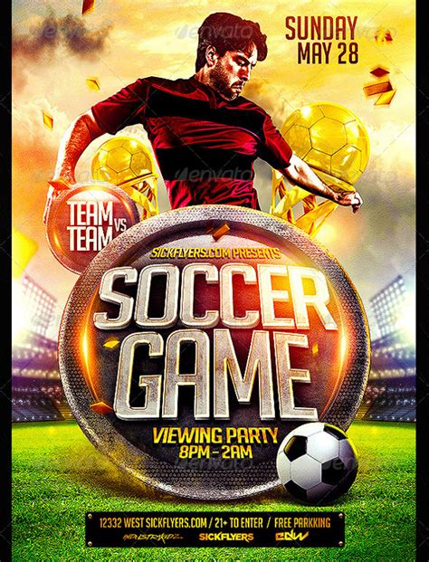 Football C Flyer Template