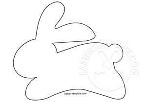 template for easter bunny easter crafts bunny pattern easter template