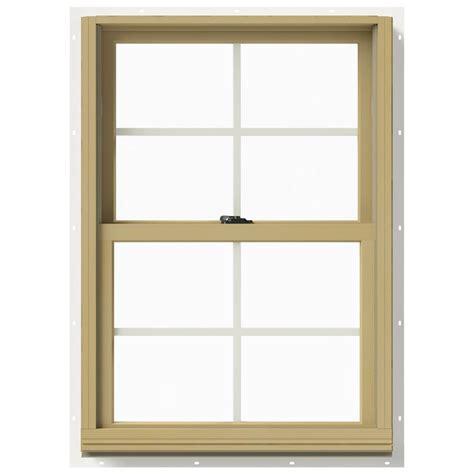 Jeld Wen Aluminum Clad Wood Windows Decor Jeld Wen 25 375 In X 36 In W 2500 Hung Aluminum Clad Wood Window Thdjw177200451 The