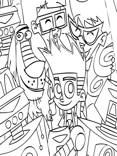 johnny test coloring pages free printable kids page johnny test coloring pages free printable
