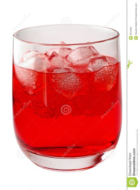 red cocktails glass of red drink with ice stock photos image 2612453