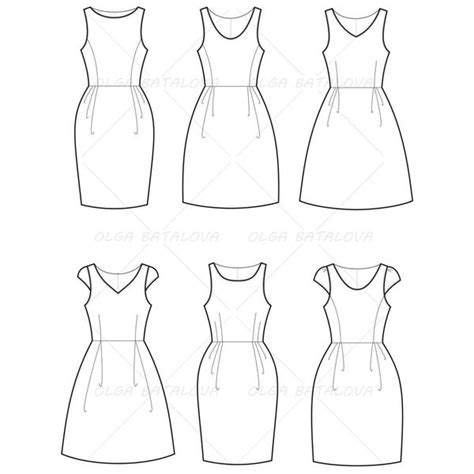 dress sketch template s empire waist dress fashion flat template