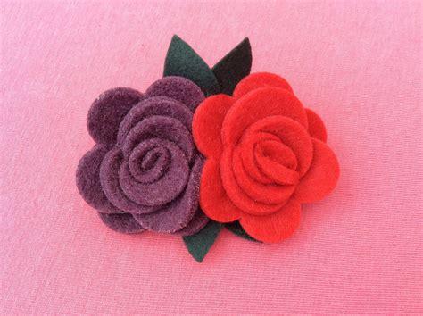 fiore feltro spilla fiore feltro gioielli spille di magie di emy