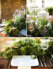 Unique Wedding Centerpiece Ideas Without Flowers - moss fern and succulent centerpiece table runner like