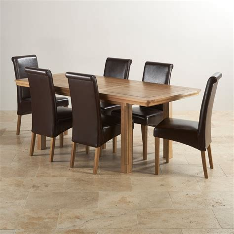 canterbury dining table and 6 chairs oak furniture canterbury extending dining table 6 leather chairs