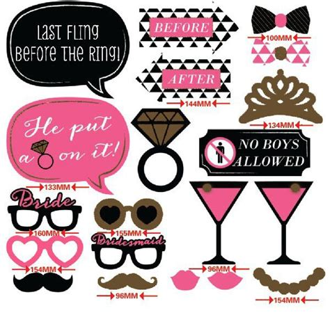 printable photo booth props hen cheap 20 pcs photo booth props on a stick girls night out