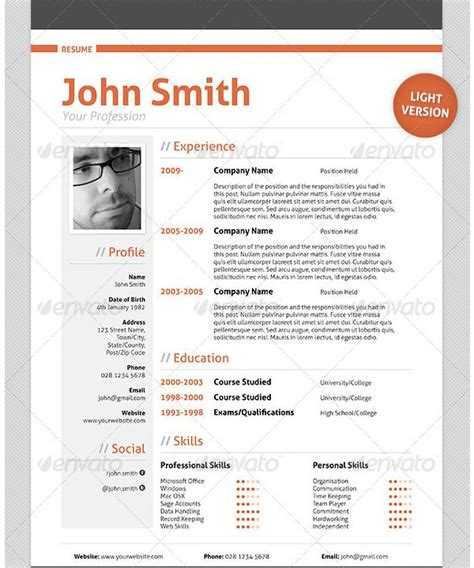 Professional Cv Template by Mac Resume Template 44 Free Sles Exles Format