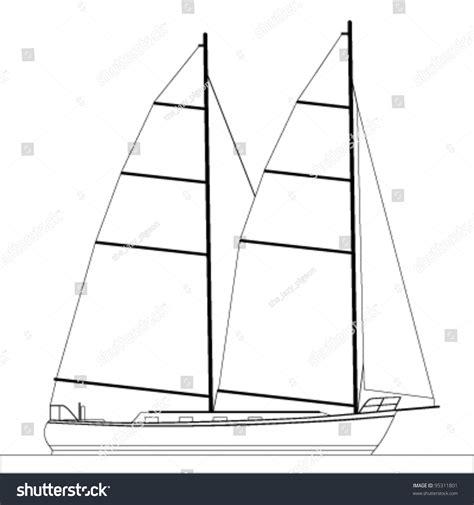 sailboat outline vector free sailboat outline illustration 95311801 shutterstock