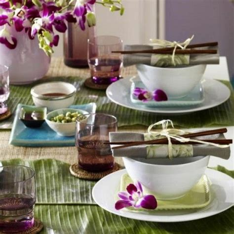 asien deko design asiatische tischdeko erkl 228 rung in 40 exotischen ideen