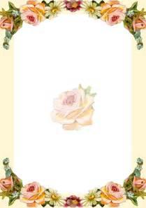 free printable vintage flower stationery ausdruckbares