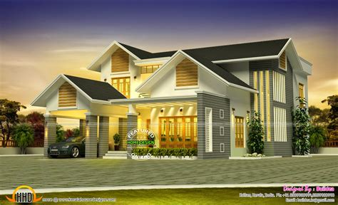 Grand House Design Kerala Home Design And Floor Plans House Plans Kerala Kollam