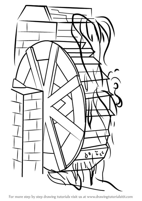water mill coloring page watermill coloring pages coloring pages