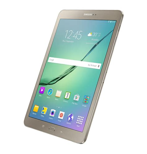Samsung Tab 2 Juta dynamic view of gold galaxy tab s2 from right perspective