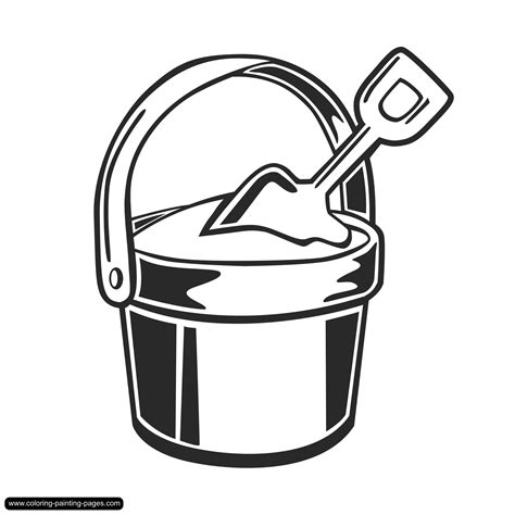 free coloring pages of sand shovel