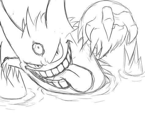 pokemon coloring pages gengar gengar coloring pages download and print for free