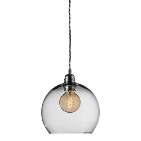 Grey Pendant Ceiling Light by Smokey Grey Blown Glass Ceiling Pendant With Silver