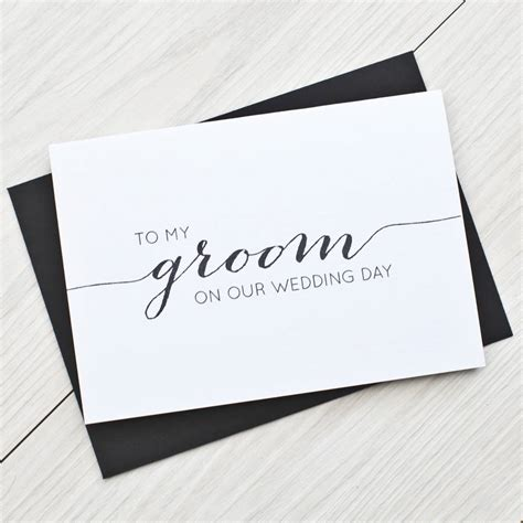 To My Groom Wedding Card