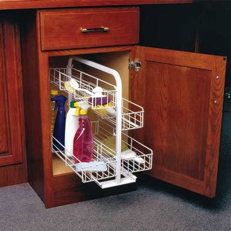 knape vogt kitchen base cabinet pull out organizer