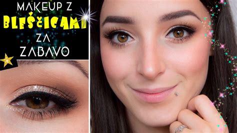 Makeup Za makeup z ble蝪芻icami za posebne prilo蠕nosti
