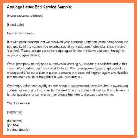 Apology Letter To Customer For Bad Quality 8 company apology letter to customer company letterhead