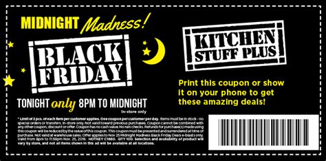 kitchen coupon kitchen stuff plus canada black friday midnight madness deals start at 8 00 pm canada