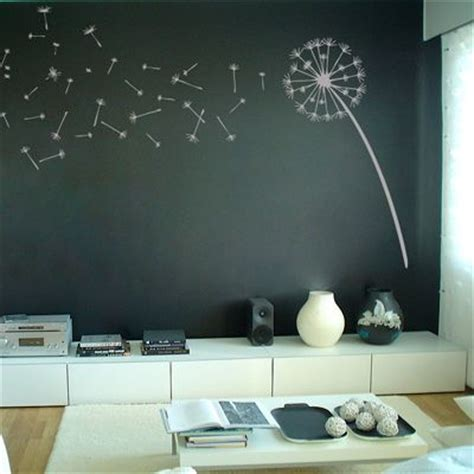 dandelion blowing the wind wall decal sticker graphic branch with bird cage art vinyl decals stickers
