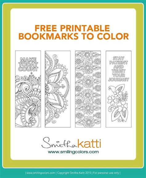 printable calendar 2016 bookmark free printable bookmarks to color adult coloring pages