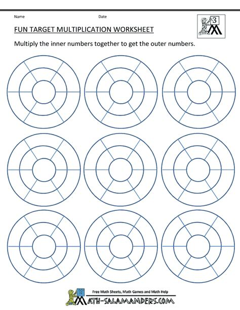 printable maths targets multiplication printable worksheets fun multiplication to