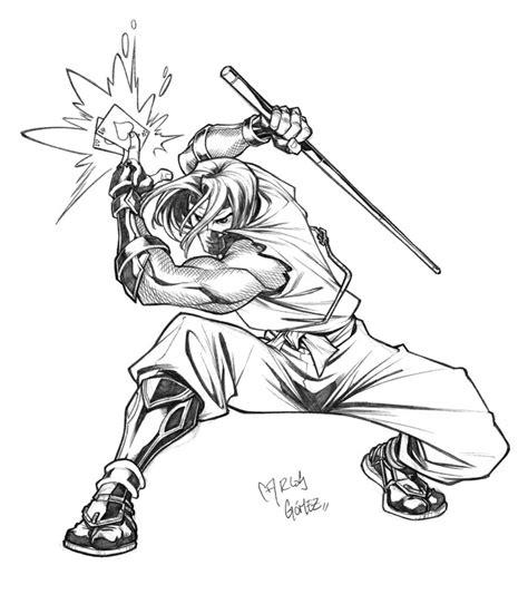 ninja gambit sketch commission by carlosgomezartist on