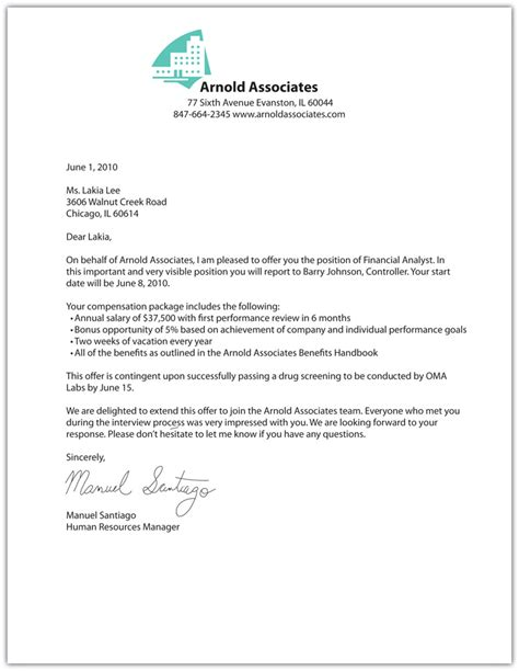 Offer Letter Of Employment Offer Letter Template Fotolip Rich Image And