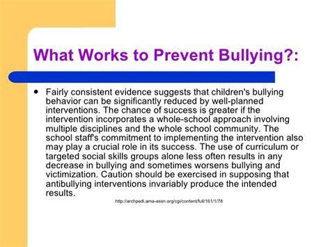 prevent bullying at school
