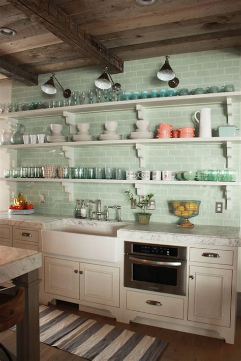 Cottage Kitchen Backsplash Painted Beadboard Backsplash Cottage Kitchen Bhg