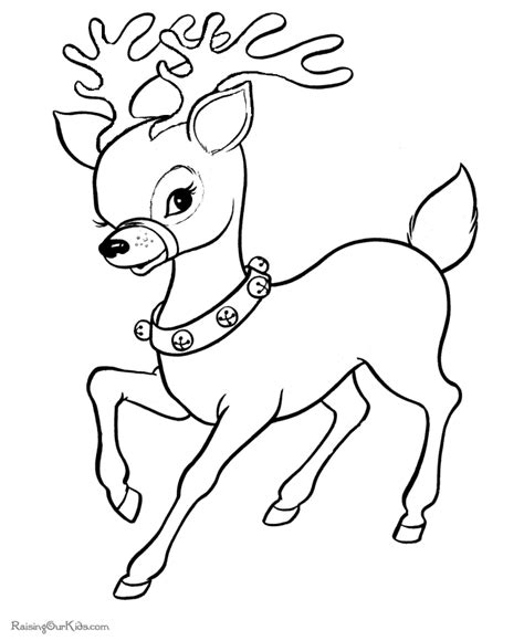 free printable xmas coloring pictures free christmas reindeer coloring pictures 020