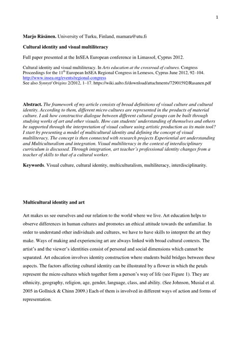 Multiculturalism In Education Essay by Cultural Identity Essay Pdf The Cultural Diversity Of The Caribbean Gcse Sociology Marked