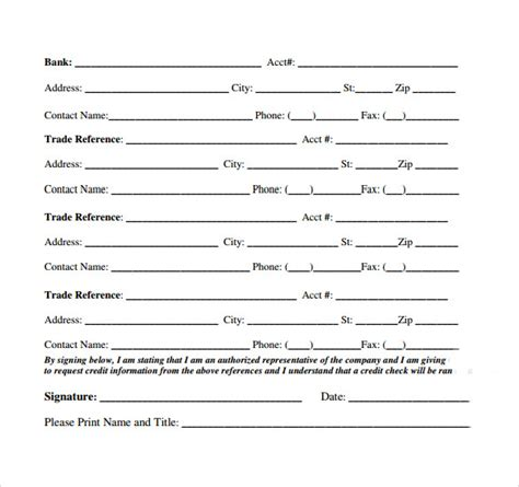 business credit reference form gse bookbinder co