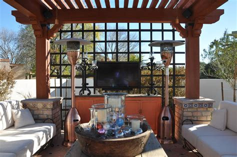 inspired propane patio heater in patio mediterranean with
