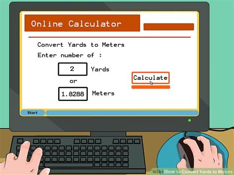 calculator yards to meters how to convert yards to meters with unit converter wikihow