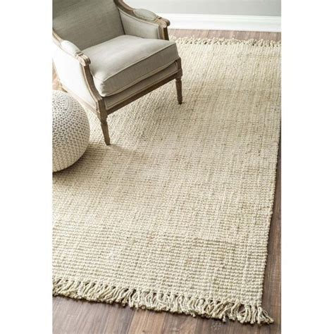 chunky loop rug nuloom 3 x 5 woven chunky loop jute rug in bleached nccl01e 305