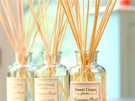 Over Bath Showers sweet grass farms fragrance sticks scented oil diffuser