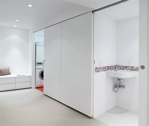 laundry room powder room powder concealed laundry and 1950s bungalow gets a flat out modern facelift