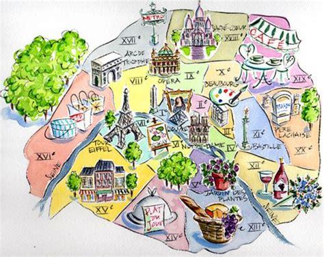 layout drawing en français illustration d une carte de paris fle departments and