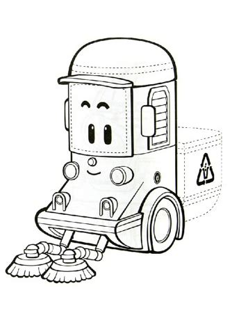 sweeper truck coloring page robocar poli coloring pages getcoloringpages com